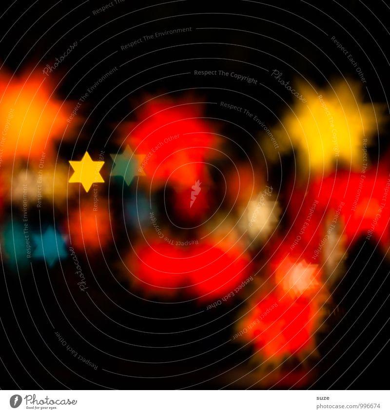 Es steht alles in den Sternen ... Lifestyle Stil Design Dekoration & Verzierung Nachtleben Party Feste & Feiern Weihnachten & Advent Zeichen glänzend leuchten