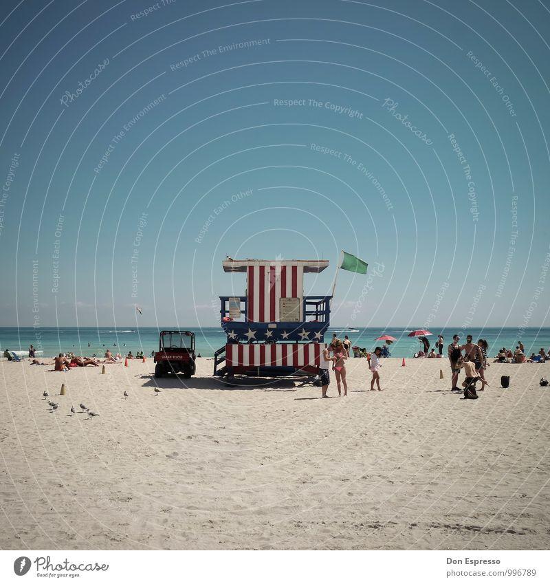 American Beachlife Freude Ferien & Urlaub & Reisen Tourismus Ferne Sommer Sommerurlaub Sonne Sonnenbad Strand Meer Mensch Erholung Fröhlichkeit Lebensfreude