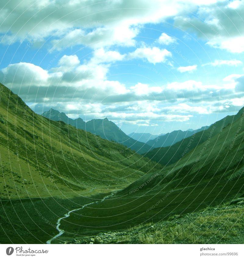 Wunderwelt II Wasser Himmel Meer grün blau ruhig Wolken Einsamkeit kalt Schnee Wiese Berge u. Gebirge Freiheit grau See Landschaft