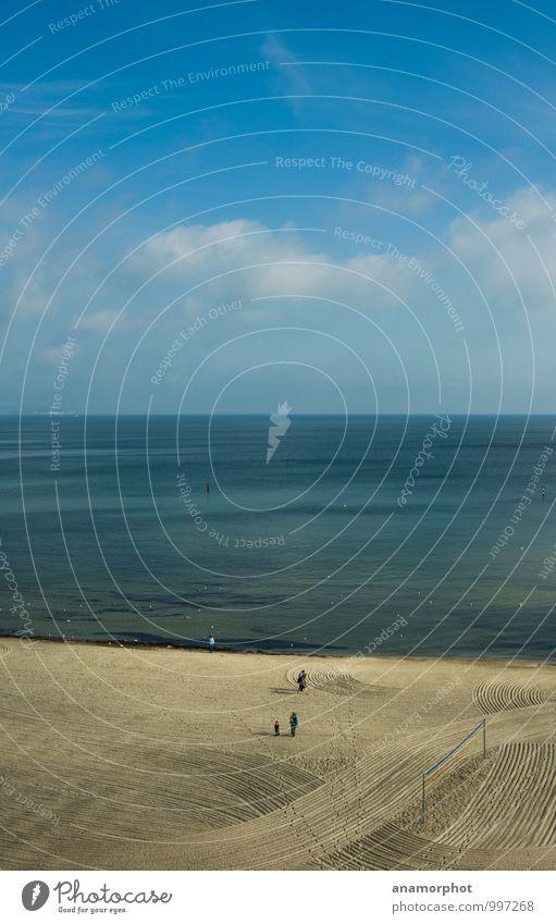 Strandordnung Himmel Ferien & Urlaub & Reisen blau Sommer Sonne Erholung Meer ruhig Freude Ferne Küste natürlich Schwimmen & Baden Stimmung Zusammensein