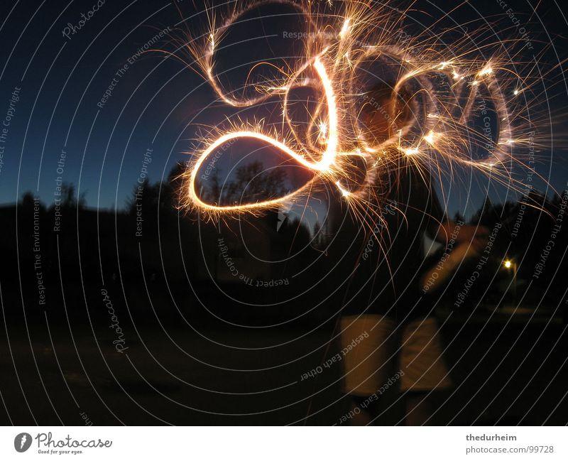 We see God everywhere Brand Licht Feiertag sparkler god firework fireworks sparklers light dark