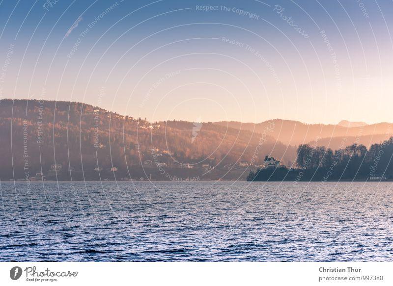 Abend am See Natur Ferien & Urlaub & Reisen Pflanze Wasser Sommer Erholung ruhig Tier Winter Ferne Umwelt Berge u. Gebirge Herbst Gefühle Freiheit