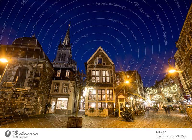 AAchen des NACHTS kaufen Winter Weihnachten & Advent Mensch Aachen Stadt Stadtzentrum Altstadt Haus Platz Sehenswürdigkeit Abenteuer Religion & Glaube Handel