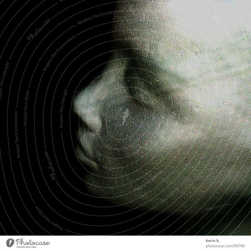 Prototyp(in) Frau Mädchen Gesicht Auge feminin Kopf Mund Nase Glatze Skulptur Styropor