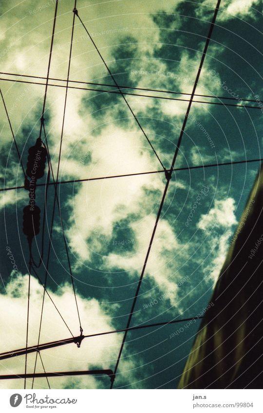 spannung. Himmel blau Wolken Eisenbahn Elektrizität Technik & Technologie Bahnhof Elektrisches Gerät Öffentlicher Personennahverkehr