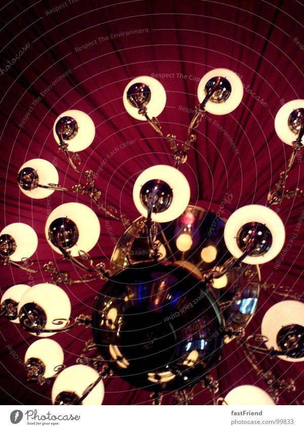 Planetensystem Lampe Leuchter Licht Samt Reflexion & Spiegelung verzweigt Ferne Strahlung Club rot Elektrisches Gerät Technik & Technologie