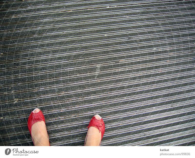 love red peeptoes rot Sommer Fuß Schuhe Bodenbelag Zehen Teppich Barfuß Ballerina