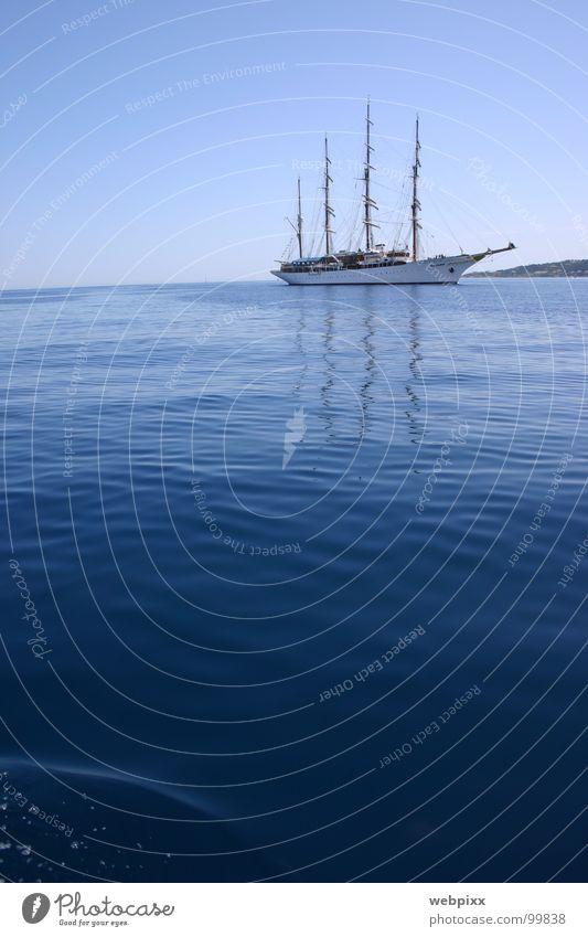 sea cloud I Himmel Meer Ferien & Urlaub & Reisen ruhig Einsamkeit Ferne Erholung Wasserfahrzeug Erfolg Horizont Ziel Provence Hafen Reichtum Segeln Schifffahrt