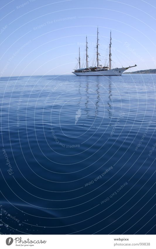sea cloud I ruhig Segelschiff Ferien & Urlaub & Reisen Fernweh Horizont Ankunft Windjammer Kreuzfahrt Schifffahrt Regatta Erfolg Grimaud Kapitän Segeltörn