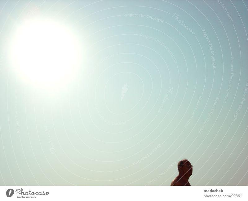 OZONLOCH Mann Mensch Himmel Physik heiß Senior man Typ Sonne sun sky sunny Wärme hot naked nschnitt Kopf face