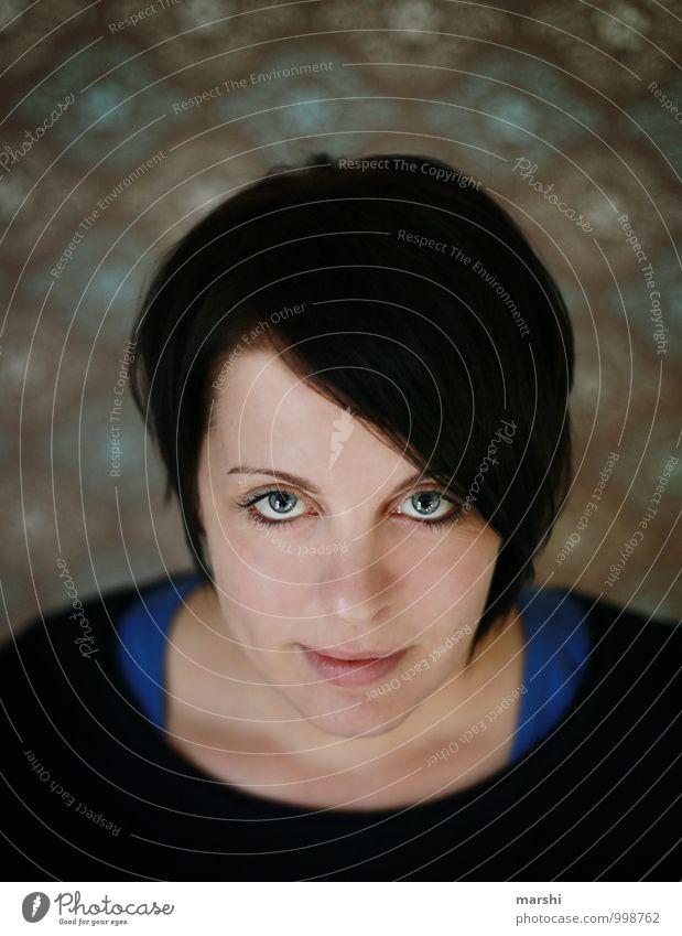 Tapetenwechsel Stil Mensch feminin Junge Frau Jugendliche Erwachsene Gesicht 30-45 Jahre Haare & Frisuren schwarzhaarig brünett Gefühle Stimmung Blick
