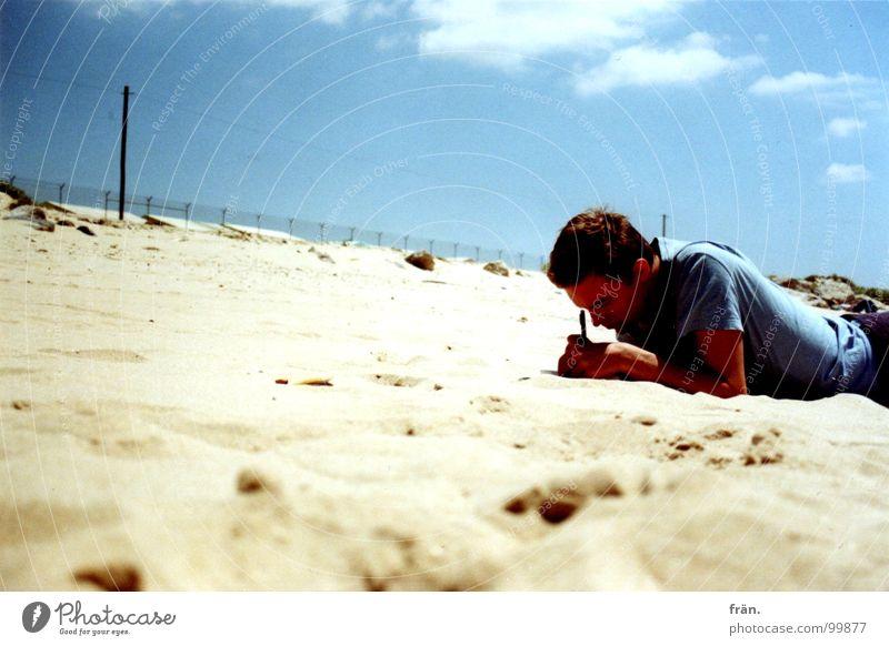 writing.in.the.sun Meer Sommer Strand Ferien & Urlaub & Reisen Küste schreiben Portugal Atlantik Sandstrand