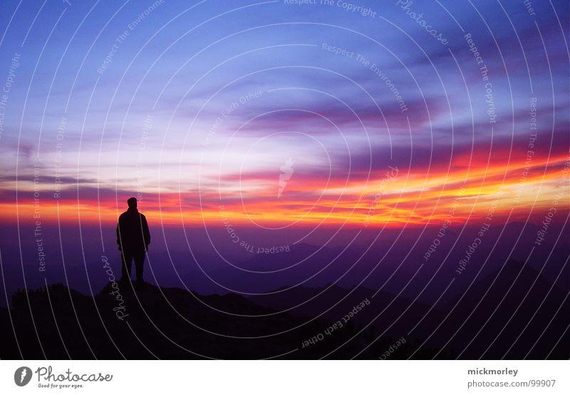Traunstein Deluxe wandern Morgen stehen aufstehen Wolken Himmel Schleier Berge u. Gebirge ruhig Morgendämmerung Sonne sky mönch am meer Momentaufnahme
