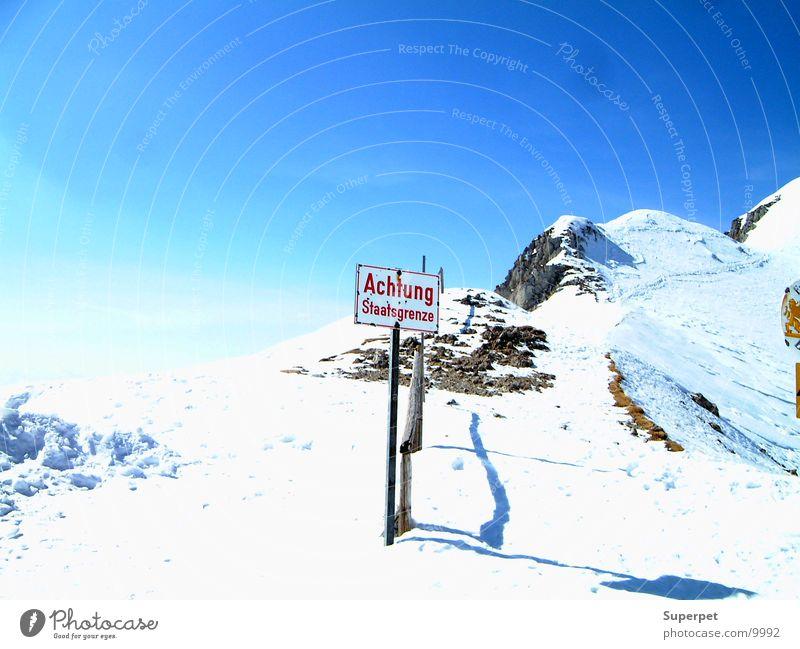 Grenze Berge u. Gebirge