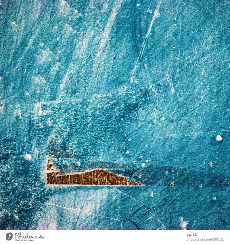 !Trash! | Helikopter alt blau Hintergrundbild fliegen braun Kunst Metall Kunststoff Riss trashig Oberfläche Kunstwerk Rest Blech Klebeband Schramme