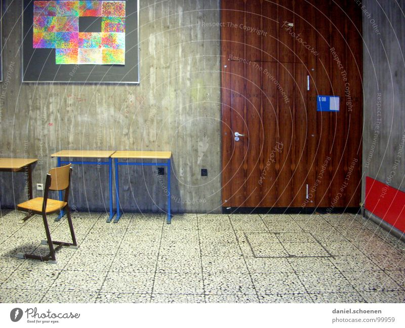 schöner Lernen Ferien & Urlaub & Reisen Schule Zusammensein Tür Schulgebäude Stuhl Langeweile Flur Schulklasse Frustration Klassenraum Gymnasium