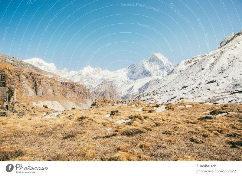 Himalaya Himmel Natur Ferien & Urlaub & Reisen Sommer Sonne Landschaft Ferne Umwelt Berge u. Gebirge Freiheit Schneefall Erde Tourismus wandern ästhetisch