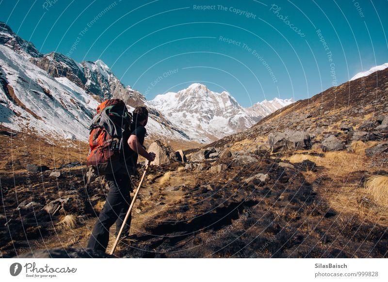 Wanderlust Ferien & Urlaub & Reisen Tourismus Ausflug Abenteuer Ferne Freiheit Expedition Camping Berge u. Gebirge wandern Fernweh Mensch Mann Erwachsene Umwelt